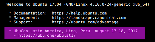 Ubuntu news on ssh login
