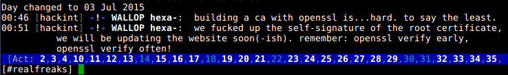 IRC wallop on hackint