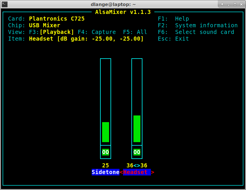 Alsamixer: Balanced channels (left / right channel loudness) again