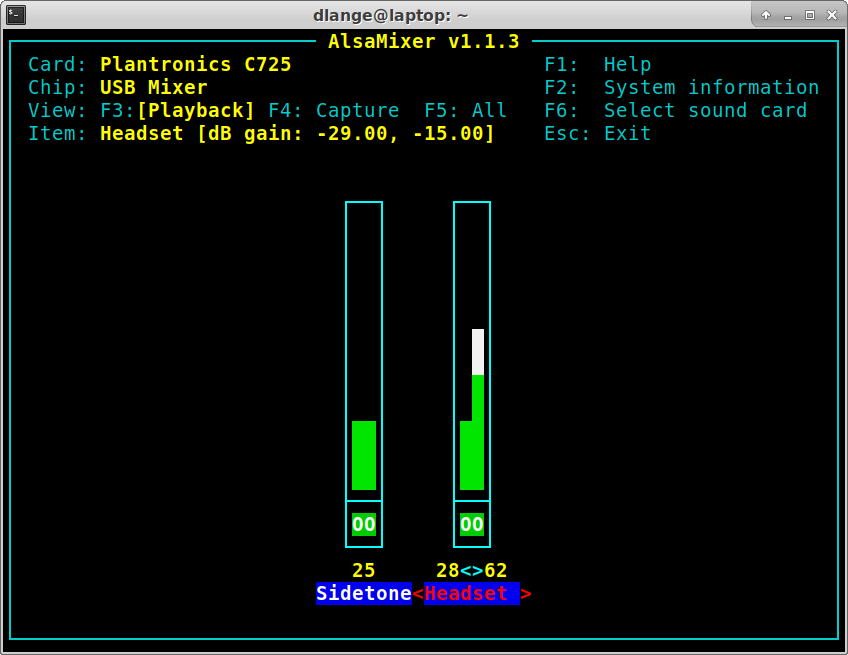 Alsamixer: Unbalanced channels on the headset (left / right channel loudness are different)