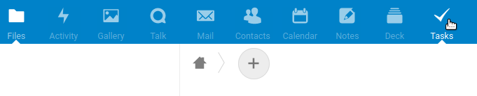 Screenshot of patched Nextcloud menu