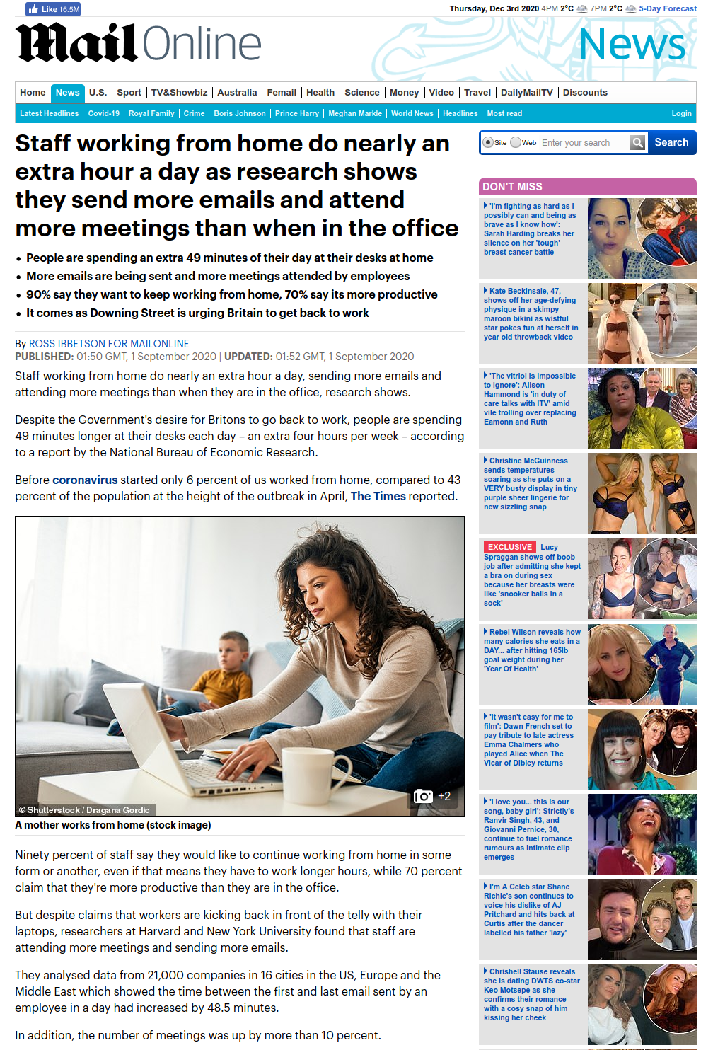 Daily Mail screenshot of the same stock image used